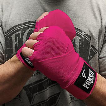 """Forza Sports 120"""" Mexican Style Boxing and MMA Handwraps - Hot Pink"""