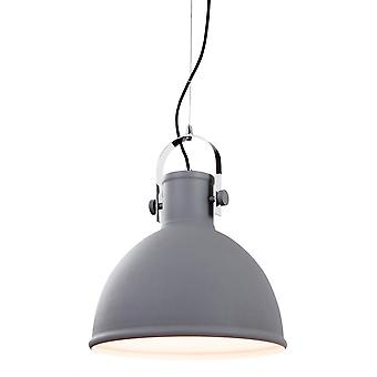 Erstlicht-1 Light Ceiling Pendant Concrete, Chrome Trim-5910CN