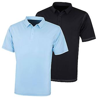 Island Green Mens Golf IGTS1932 Contrast Stitch Polo Shirt