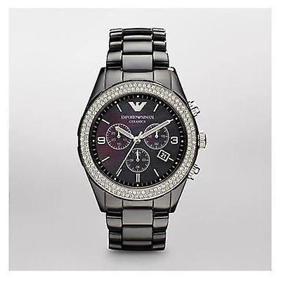 Emporio Armani Ar1455 Latest Model Ladies Black Ceramica Watch