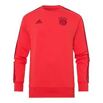 2019-2020 Bayern Monachium adidas Sweat Top (czerwony)