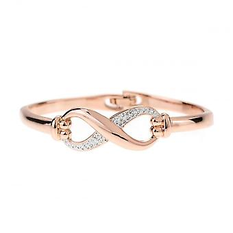 Belle et Beau Rose Or Plaqué Crystal Infinity Bangle