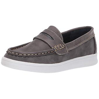 Kids Steve Madden Boys Bsharper Leather Slip On Loafers