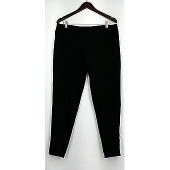 Womens S Pull-on Solid Knit Leggings with Elastic Waist Black Womens