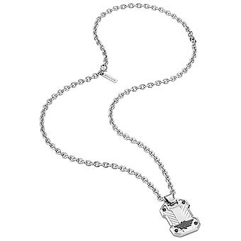 Police Man Stainless Steel Pendant Necklace S14APR01P