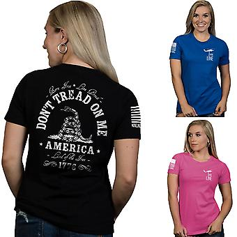 Nine Line Apparel Women's Don't Tread On Me Relaxed Fit Short Sleeve T-Shirt