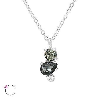 Geometric Crystal From Swarovski® - 925 Sterling Silver Necklaces - W38437x