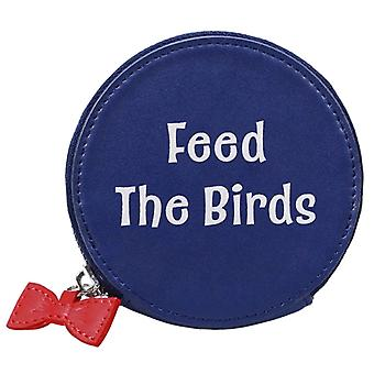Mary Poppins Coin Purse Tuppence Feed the Birds new Official Blue