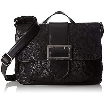 Tamaris Lee Satchel tas-Donna Schwarz emmer zakken (zwarte kam) 10x22x28cm (B x H T)