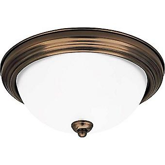 Sea Gull Lighting 2-Light Ceiling Flush Mount Light Fixture Russet Bronze