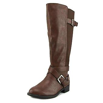 Thalia Sodi Womens Vada Fabric Round Toe Knee High Riding Boots