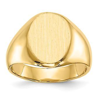 14 k giallo oro Mens incisione dell'anello di Signet - 9,1 grammi - taglia 10