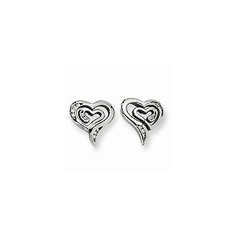 Stainless Steel Polished Post Earrings CZ Cubic Zirconia Simulated Diamond Earrings Jewelry Gifts for Women
