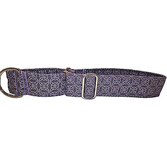 Dogcrafts Martingale 40mm Argent et Purple Hoops Nickel Plaqué
