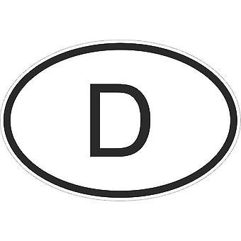 Aufkleber Aufkleber Aufkleber Aufkleber Flagge Oval Code Land Motorrad Auto Deutsch Deutschland D