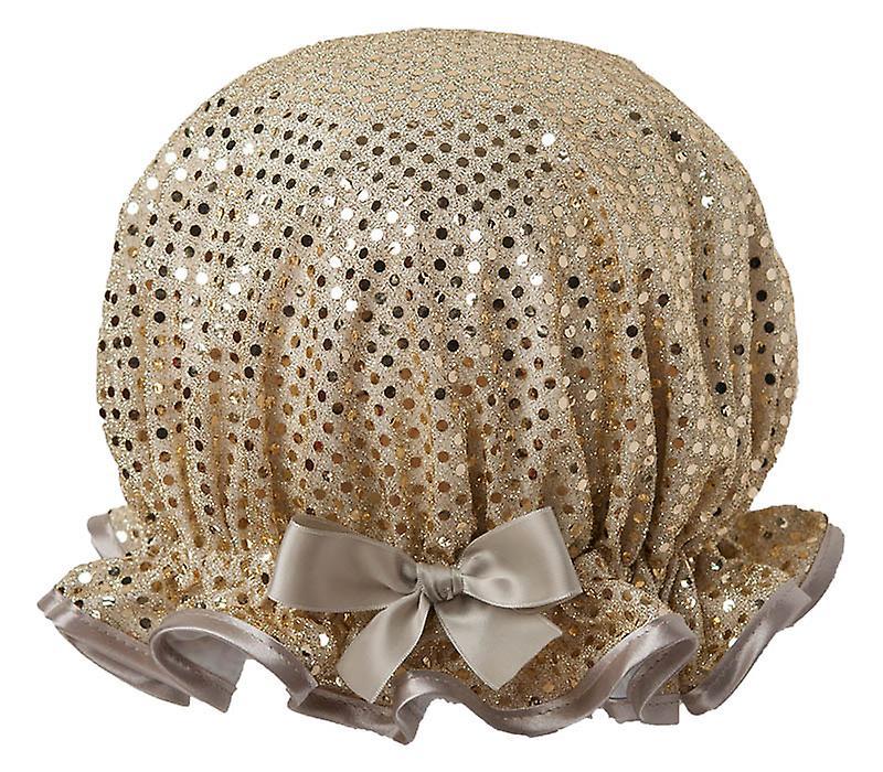 Sparkle Gold Shower Cap