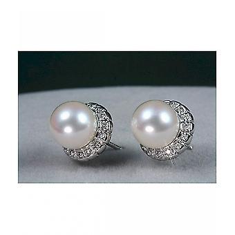 Luna-parels Akoya Beaded hengsten met diamanten M_S2_O