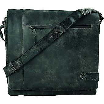 Pride and Soul 47156 - Jumper shoulder bag in real black leather