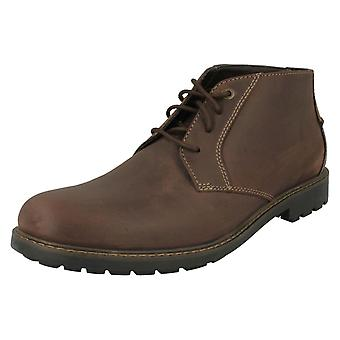 Mens Clarks Lace Up Ankle Boots Curington Over