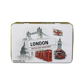 Black and white iconic london scenes tea tin 100 teabags