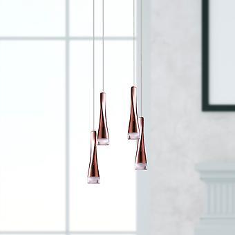 Modern Pendant LED Lamp Chandelier Ceiling Light 4 Pendant Square Canopy New