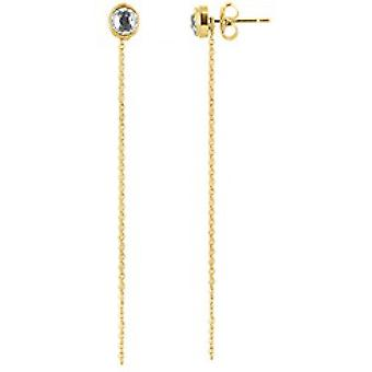 The Interchangeable Earrings A56670 - Serti PM Gold Yellow Crystal