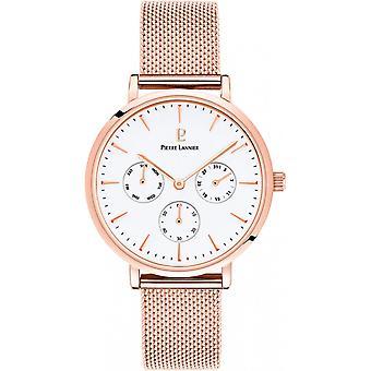 Pierre Lannier Watch 002G908-naisten vaaleanpunainen kullanvärinen teräs monitoimikello