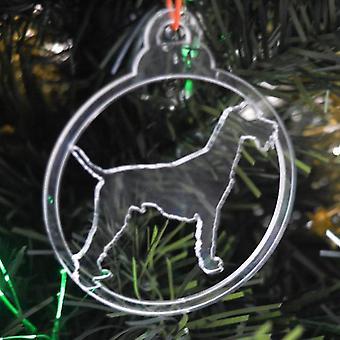 Hund TAND klar Acryl Weihnachten Dekorationen 6pk - Airedale / Bingley / Waterside Terrier