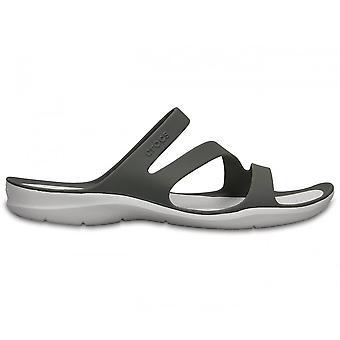Crocs Womens Swiftwater Sandal Smoke/White