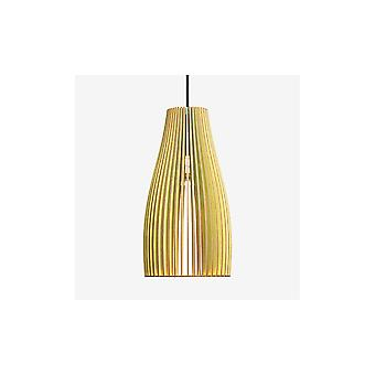 Iumi Ena L Large Cone Shaped Plywood Pendant Lamp - Green