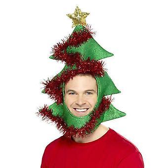 Nieuwigheid kerstboom hoed volwassen groen