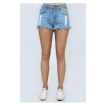Limited Edition lederen stijl Pocket bezaaid USA shorts
