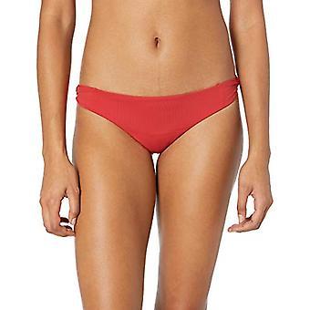 Billabong Kvinner & apos;s Sol Searcher Lowrider Bikini Bunn Solnedgang Red Medium