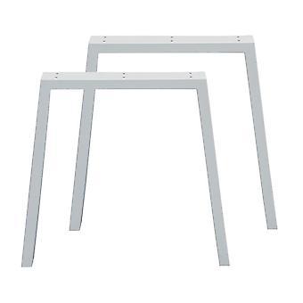 Sarja valkoinen puolisuunnikkaan pöydän jalat 72 cm (putki 10 x 4)