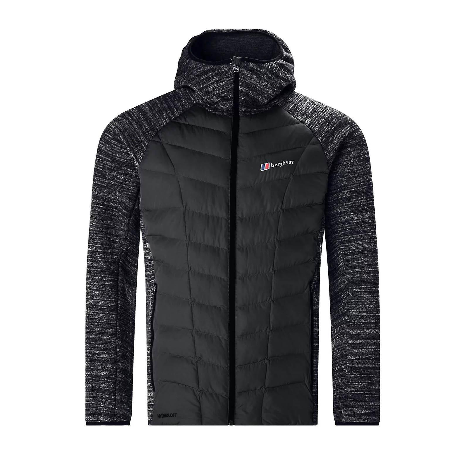 Berghaus Duneline Hybrid Fleece Mens Insulated Hooded Jacket Black