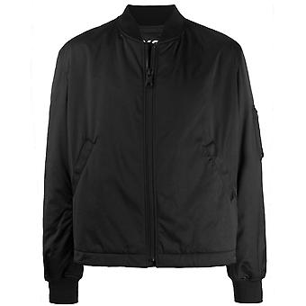 Y-3 Embroidered Reverse Graphic Logo Bomber Jacket
