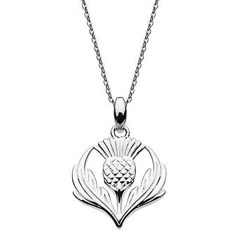 Kit Heath Heritage Sterling Silver Giorsail Thistle Pendant 9314HP024