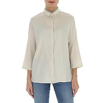 Fabiana Filippi Cad260w832a6010104 Women's White Silk Shirt