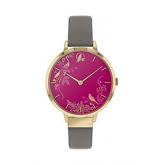 Sara Miller SA2016 Women's Pink Birds Wristwatch
