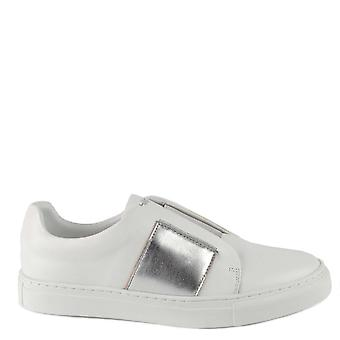 Philip Hog White And Silver Slip On Trainer