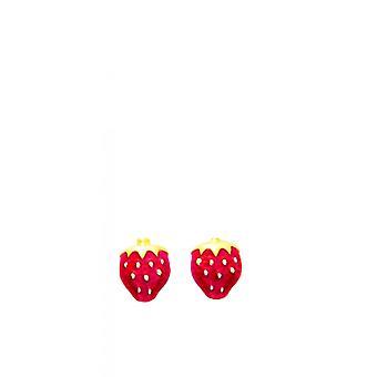Ohrringe Erdbeere Kinder Gold 375/1000 gelb (9K)