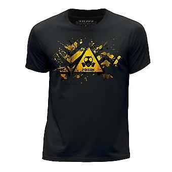 STUFF4 Boy's Round Neck T-Shirt/Splat/Hazard/Poison/Black