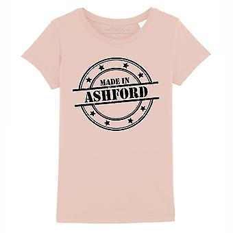 STUFF4 Girl's Round Neck T-Shirt/Made In Ashford/Coral Pink