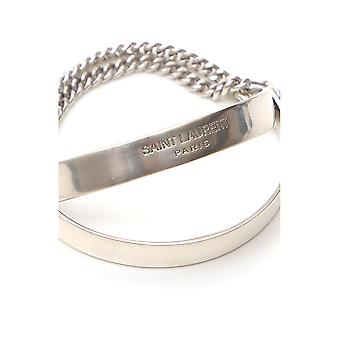 Saint Laurent 603629y15008142 Männer's Silber Messing Armband