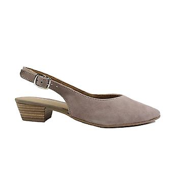 Tamaris 29405 Taupe Suede Leather Womens Slingback Shoes