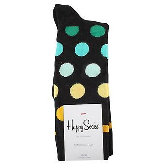 Happy Socks Big Dot Socks - Black/Multi-colour