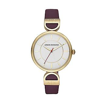 Armani Exchange Ladies Quartz analogue watch with leather strap AX5326