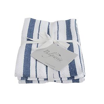 Stow Green Belgravia Basket Weave Tea Towels, Blue