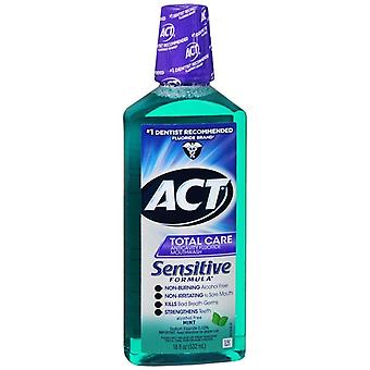 Act sensitive care anticavity fluoride rinse, mint, 18 oz