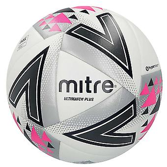 Mitre Ultimatch Plus IMS Match Football Soccer Ball White/Silver/Pink